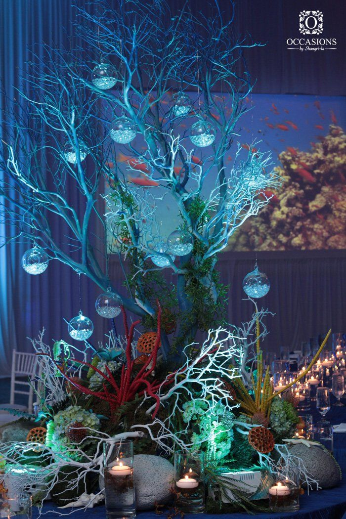 Underwater Coral Inspired Centerpiece   Occasions by Shangri-La ... #EditLater