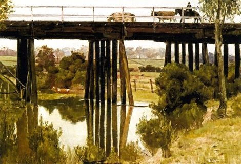 Tom Roberts, Winter Morning after Rain, Gardiner's Creek on ArtStack #tom-roberts #art