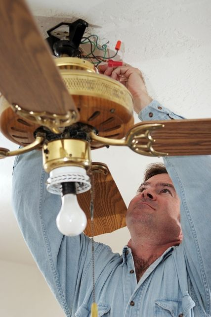 Over Your Head - Even small renovations like changing lighting fixtures or installing ceiling fans can pose a danger to you if you have little experience with #electrical work. Call an #electrician to handle any size project to protect yourself.