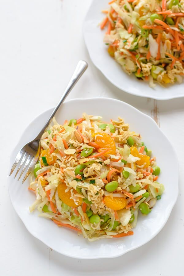 Asian Ramen Salad made with REAL ingredients