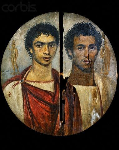 -Fayum portraits perfectly represent Greek settlers and Romans who intermarried with local Egyptians (Africans). - Musée du Caire (Egypte) A