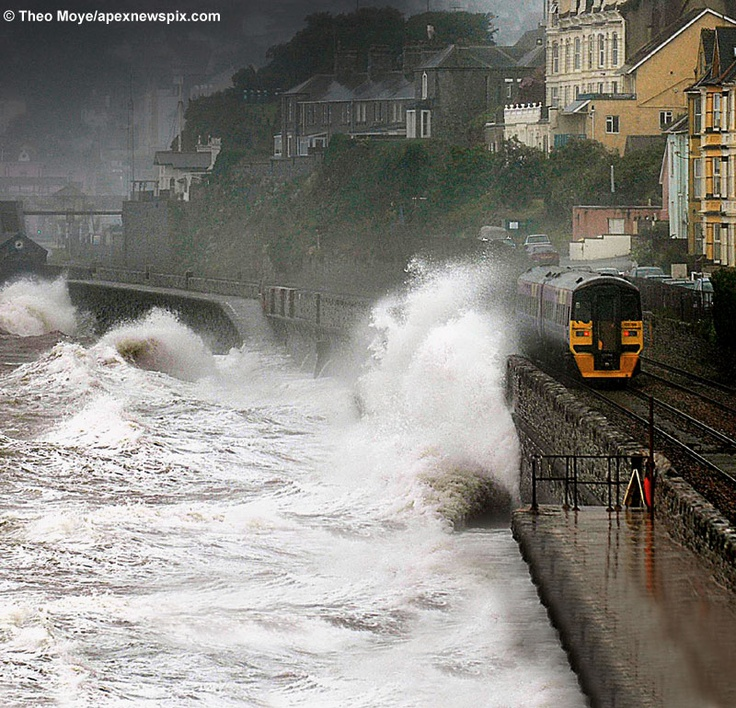 You haven't had the full Dawlish experience until you have travelled on the train with waves crashing on to it!!!