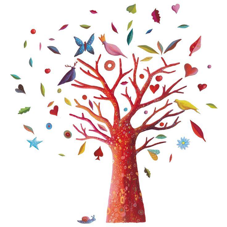Les 25 meilleures id es concernant stickers muraux d 39 arbre - Stickers muraux arbre ...