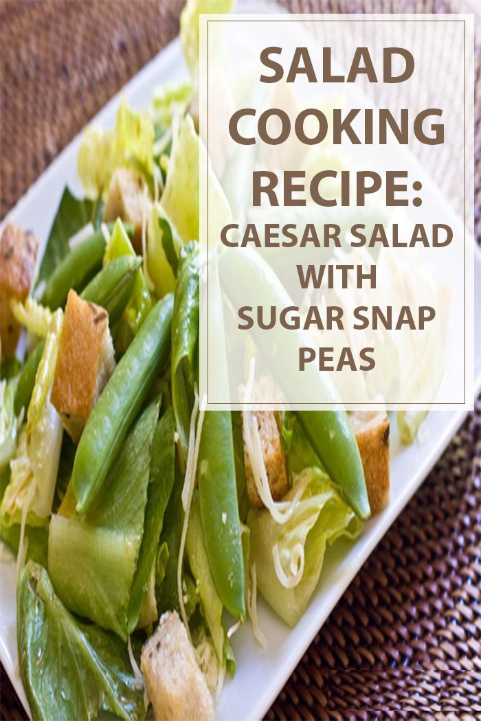 Caesar Salad with Sugar Snap Peas Cooking Recipe is a quick and really easy salad to make for the whole family. Great combination of salad and sweetness. #food #salad #health #foodporn | www.housewiveshobbies.com |