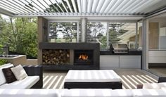 Combine style and function to enhance your outdoor living space with our Louvered Roof Systems. Adjustable blades offer the ultimate flexibility in controlling the amount of light transmission and protection from inclement weather.