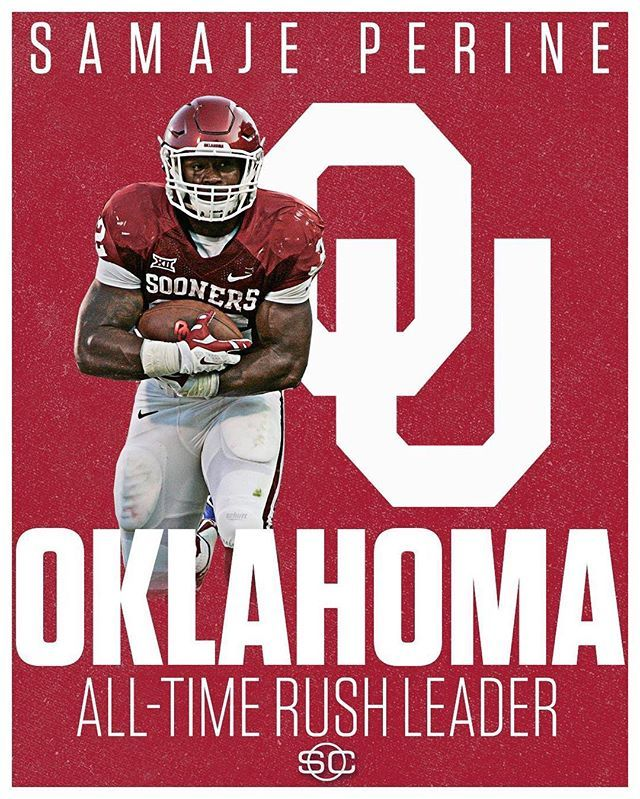 Samaje Perine passes Heisman Trophy winner Billy Sims to become Oklahoma's all-time rush yards leader.