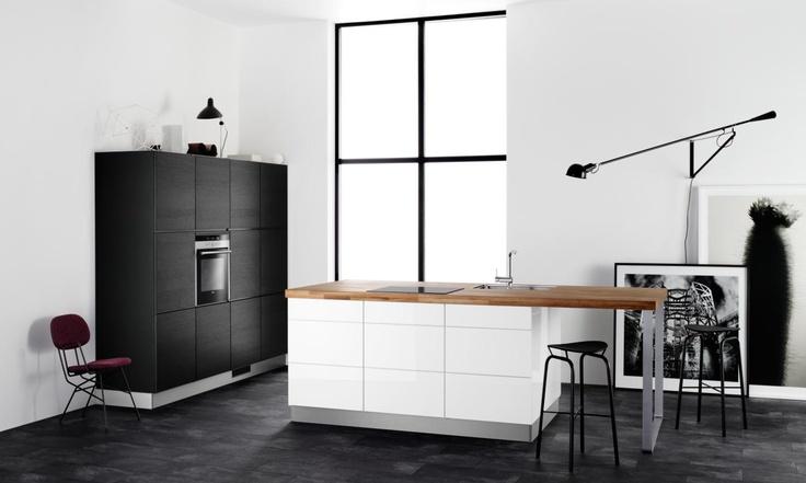 cuisine blanche plan bois cuisines plan de travail. Black Bedroom Furniture Sets. Home Design Ideas