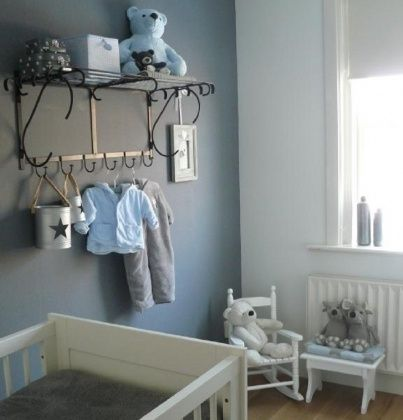 38 best images about chambre enfant on pinterest decorative shelves turquoise and ana white - Chambre bebe garcon gris bleu 2 ...
