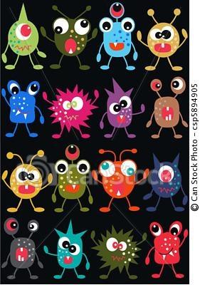 Vector - seamless, monstruo, patrón - stock de ilustracion, ilustracion libre de, stock de iconos de clip art, logo, arte lineal, retrato de EPS, Retratos, gráficos, dibujos gráficos, dibujos, imágenes vectoriales, trabajo artístico, Arte Vectorial en EPS