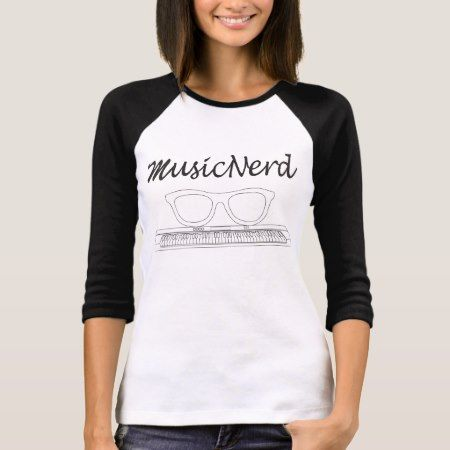 Music Nerd T-shirt: Keyboard T-Shirt - tap to personalize and get yours