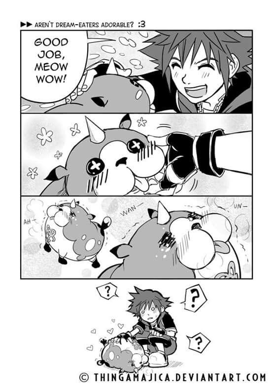 Kingdom Hearts Dream Drop Distance - Meow Wow & Sora xD