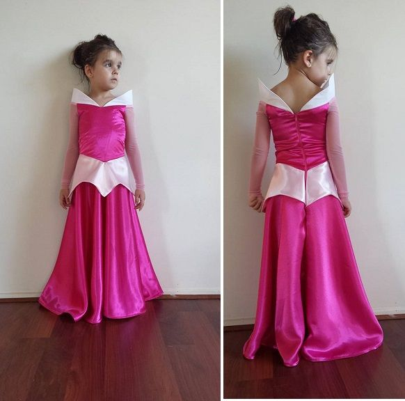 Sleeping beauty costume, half circle skirt, stretch mesh sleeves no pattern as it was made to fit but my inspiration was this adult costume... http://www.aliexpress.com/store/product/Free-UPS-Shipping-Sleeping-Beauty-Princess-Aurora-Dress-Cosplay-Costume-Princess-Dress/427599_2039827750.html