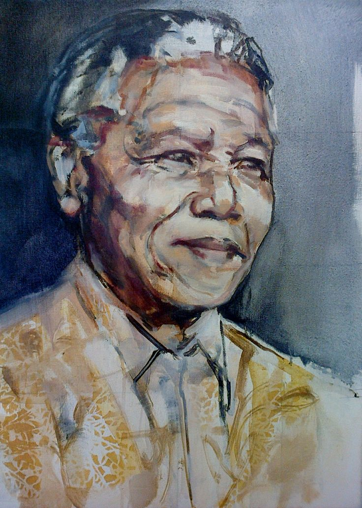 Madiba portrait. Work in progress for a private commission