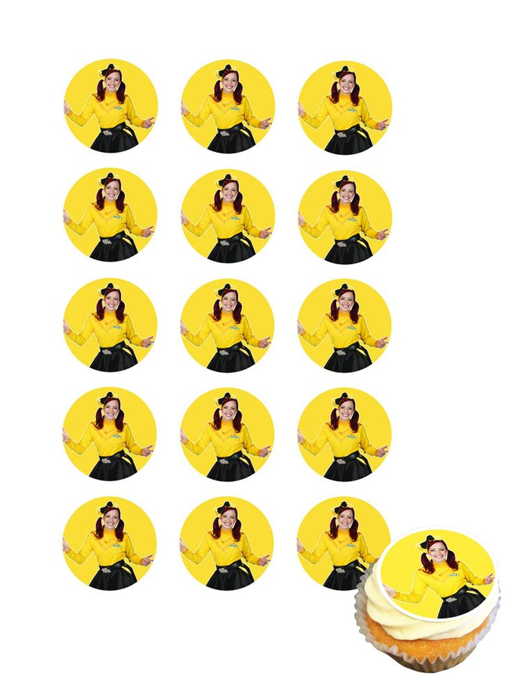 The Wiggles Emma Cupcake icing images $9.95 per sheet of 15 #wigglesparty #wigglesemma #kidsparty #cupcake #247partypaks