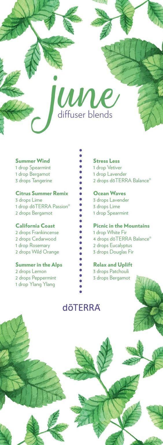 June essential oil blends