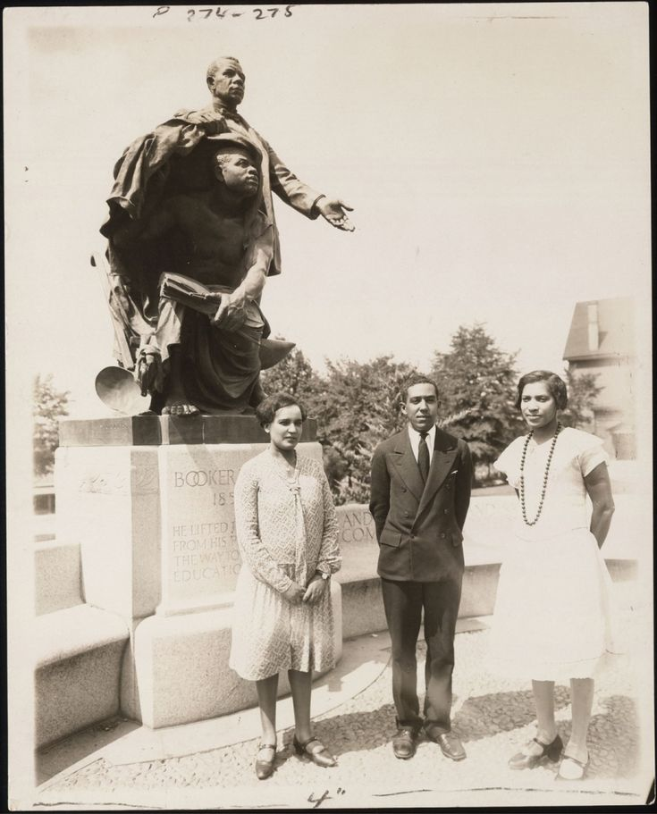 Jessie Fauset, Langston Hughes, and Zora Neale Hurston at Tuskegee Institute, 1927
