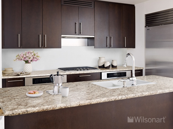 Wonderful This Kitchen Features Our Wilsonart® HD® High Definition® Laminate In  Bianco Romano,