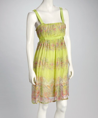 Take a look at this Lime & Coral Sundress by Papillon Imports on #zulily today!