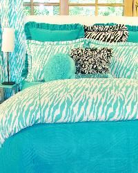 Turquoise Zebra Bedding for Girls and Teens