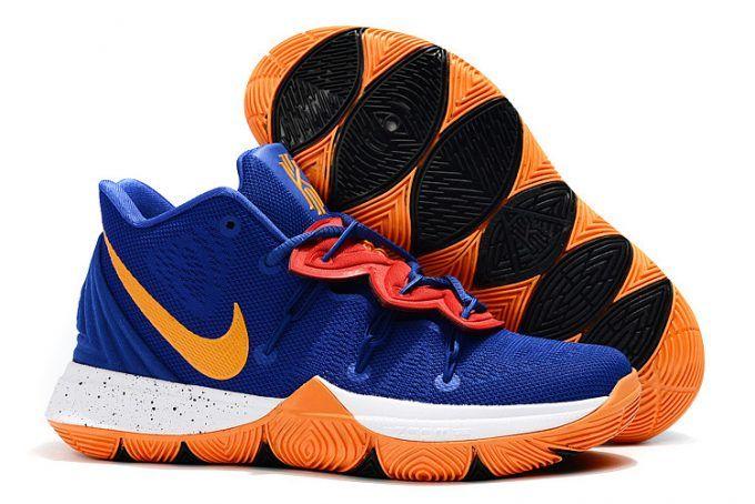 san francisco a2d9b eceaf Nike Kyrie 5 Royal Blue Orange-White Mens Size 7-12-1