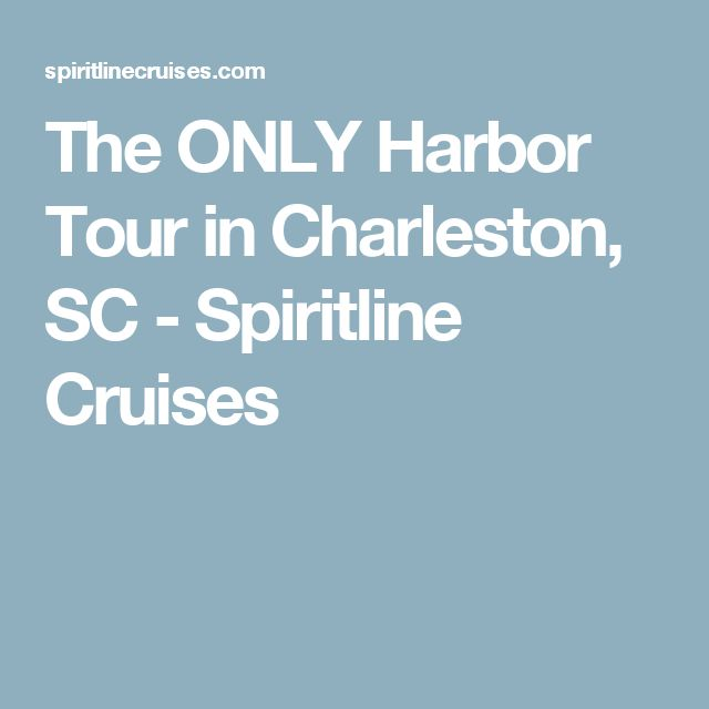 The ONLY Harbor Tour in Charleston, SC - Spiritline Cruises