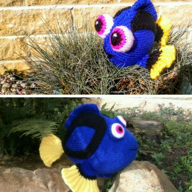 DORY FISH and BABY DORY KNITTING PATTERNS