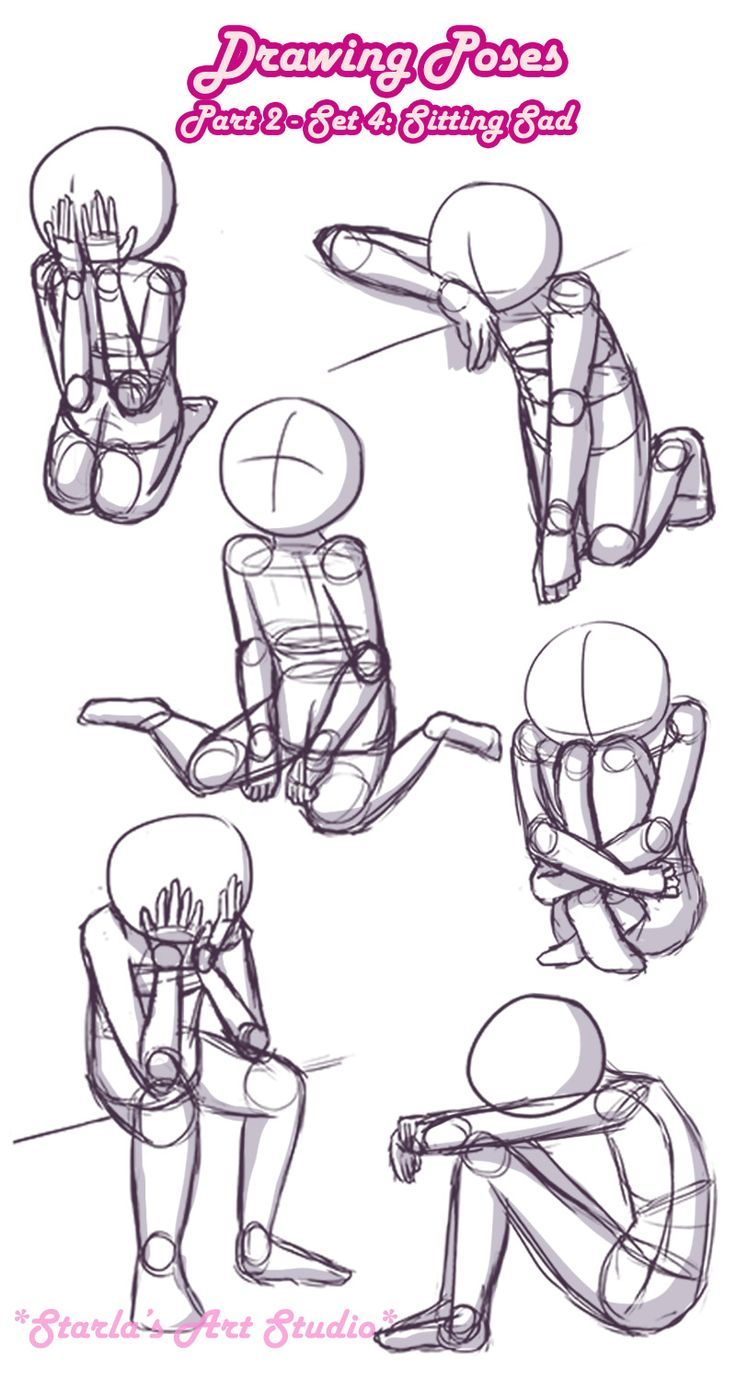 Sitting Sad Poses: Here is a quick reference page …