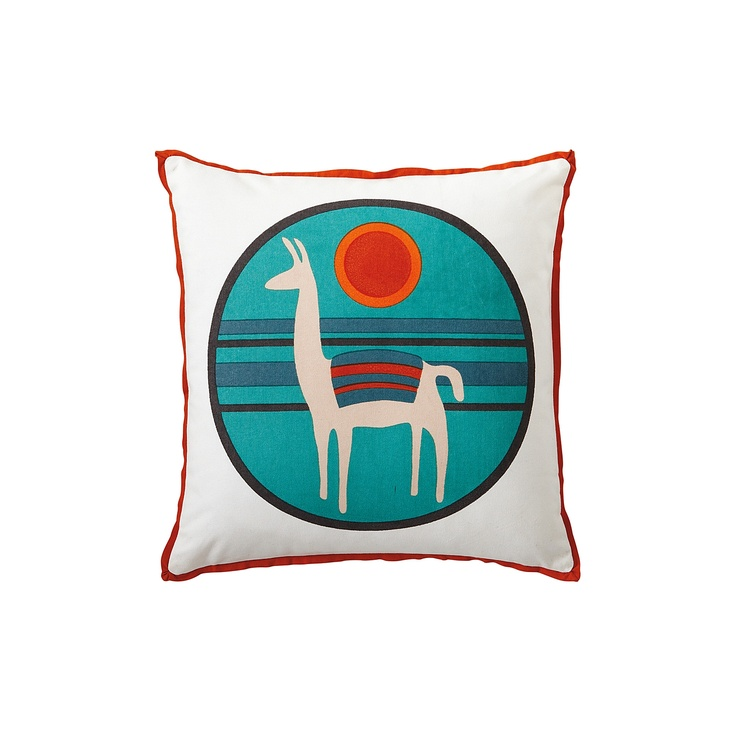 {Llama Pillow Cover} such a cool design! one part Peruvian and one part California cool ;)