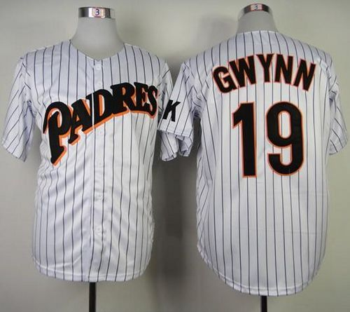 huge selection of a0857 30105 Mitchell and Ness Padres #19 Tony Gwynn Stitched Throwback ...
