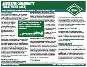 Assertive Community Treatment (ACT).  This is what I do!