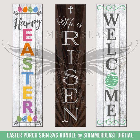 Easter Porch Sign Svg Bundle Porch Sign Svg Reversible Etsy In 2020 Porch Signs Easter Signs Easter Porch Decor