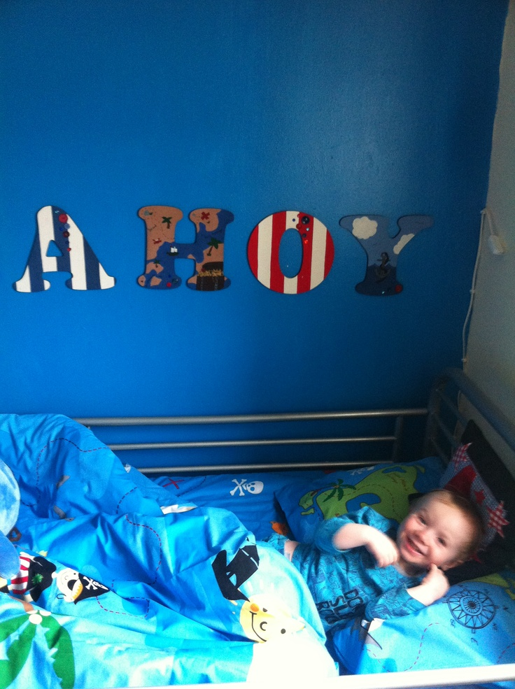 Pirate bedroom. Go to Evie's baby boutique on Facebook :)