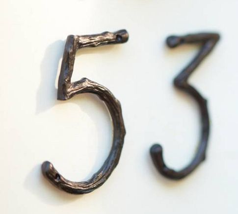 Another view of the Pottery barn numbers. And this was the winner. They are ordered and can't wait to see how they look on the house.