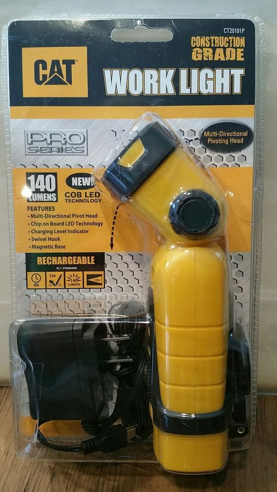 CAT Construction Grade Rechargeable Work Light-140 Lumens Item#CT20101P LED New  #CAT