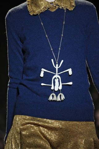 Pendant by Alexander Calder | From Rochas, Inverno 2012