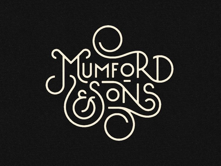 Typography - Typography - Mumford & Sons by Pavlov Visuals... Typography design & inspiration  Preview – Work    Description  Mumford & Sons by Pavlov Visuals  – Source –