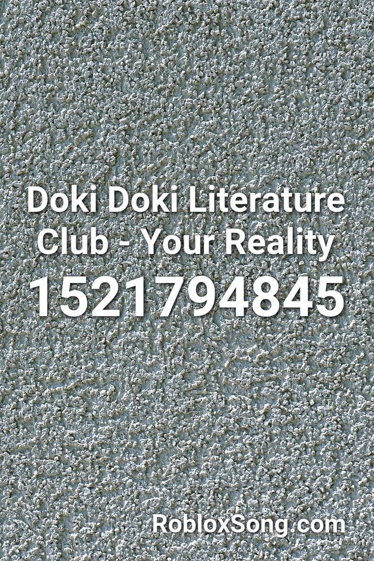 Doki Doki Literature Club - Your Reality Roblox ID ...