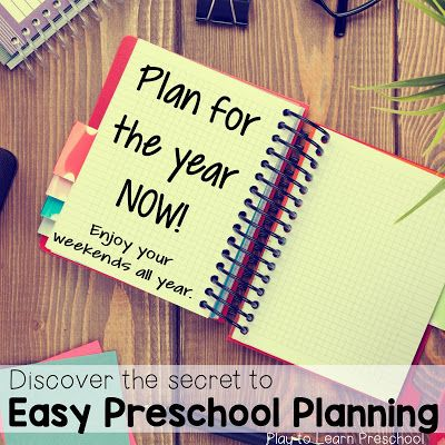 Plan now for your preschool year