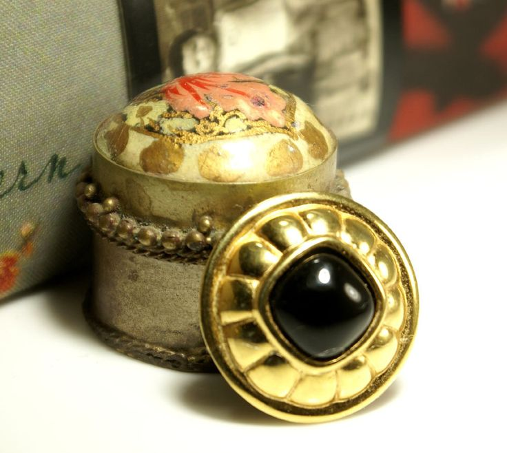 """Upcycled vintage rescue. Mad Men style gold and black Mag TAK """"Chick Magnet"""" magnetic brooch. Beautiful suit lapel pin with silk back button by ModernRenaissanceMan on Etsy https://www.etsy.com/listing/236625818/upcycled-vintage-rescue-mad-men-style"""