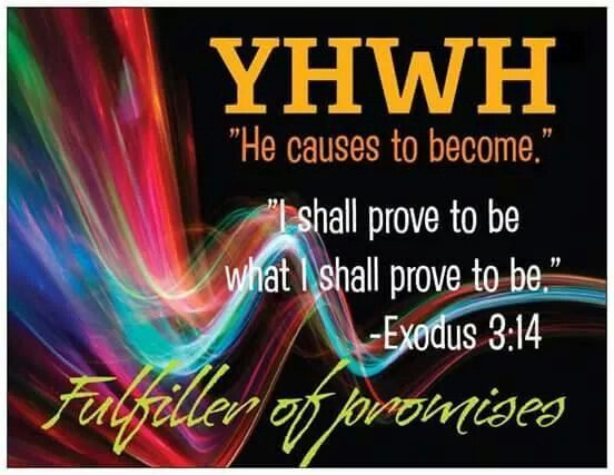 """Hebrew for """"Jehovah"""". His name means """"he causes to become"""". He becomes whatever is necessary to fulfill his purpose."""