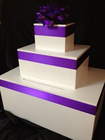 Present wishing well 45cm tall - customise colour ribbon