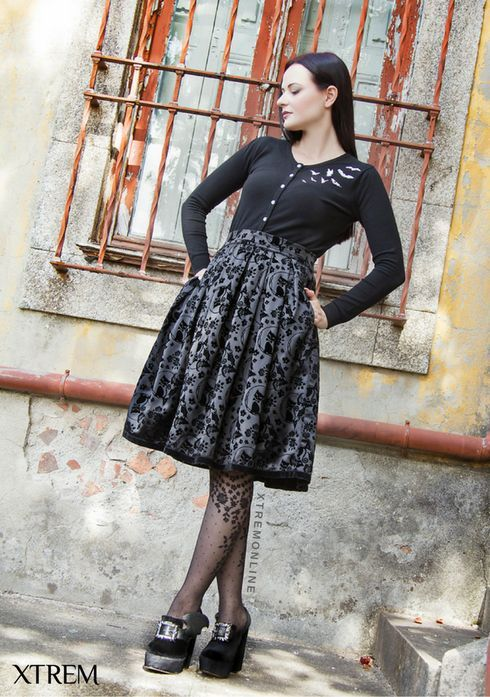 Outfit Pin Up Gótica #gothabilly #gothic #gothfashion #psychobilly #pinup #xtremonline