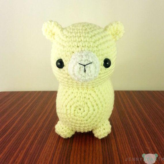 Amigurumi Alpaca : PATTERN: Midi Chubby Alpaca Amigurumi Plush (instant ...