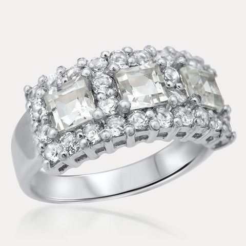 925 Silver Ring with Rock Crystal