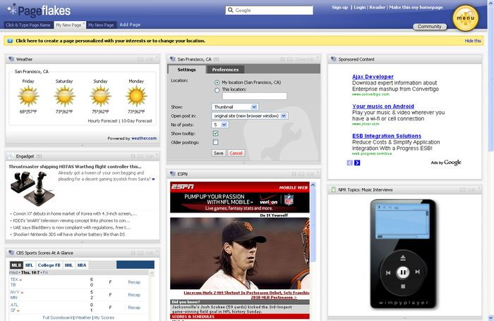 Pageflakes, free download. Pageflakes: Build your own personalized home page. Pageflakes allows you to create your own customized homepage for the web, made up of widgets and news