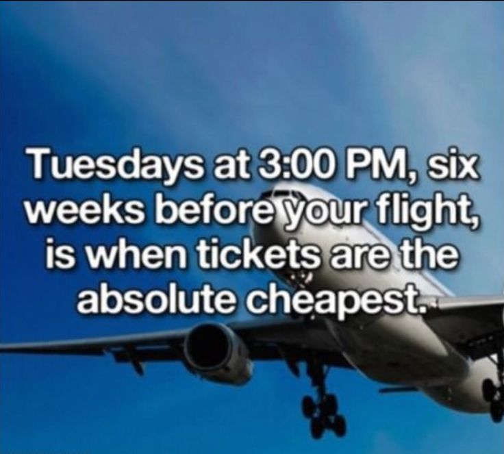 Best day to by a plane ticket