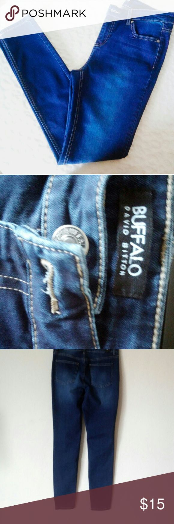 Buffalo Francesca Midrise Skinny Stretch Jeans Never been worn but the tags are off. Really adorable jeans that does well in accentuating your figure. Size 4/27 Buffalo David Bitton Jeans Skinny