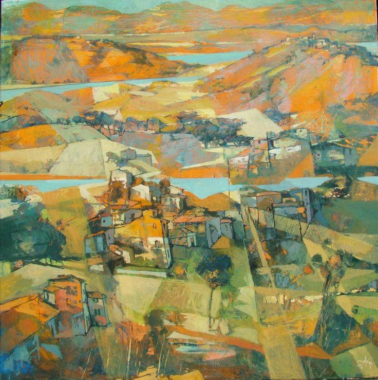 "Saatchi Art Artist: Alex Bertaina; Oil 2014 Painting ""Paesi che non ho visto mai"""