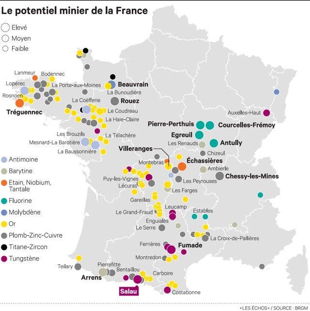 or en france carte Carte Des Mines D Or En France | imvt | Antimoine, France