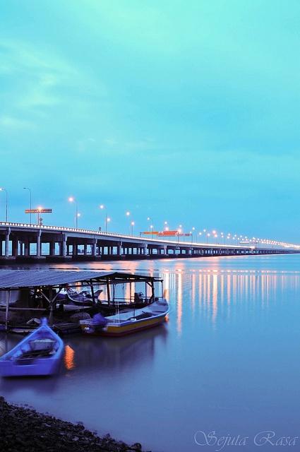 Penang Bridge, Malaysia.